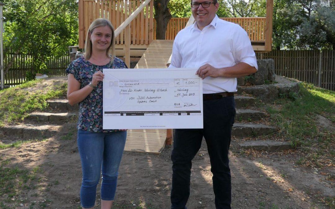 JUKI spendet 1.000 EUR für das Haus für Kinder in Nürnberg/Eibach